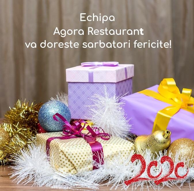 Echipa Agora Restaurant va doreste sarbatori fericite